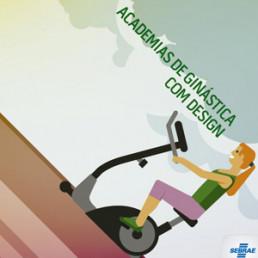 infográfico academias de ginástica com Design - Sebrae