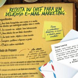 Infográfico Receita du chef para um delicioso e-mail marketing - Sebrae
